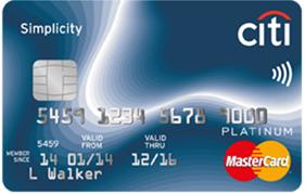 Citibank - Citi Simplicity Credit Card