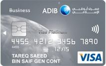 ADIB Business Visa Platinum Covered Card